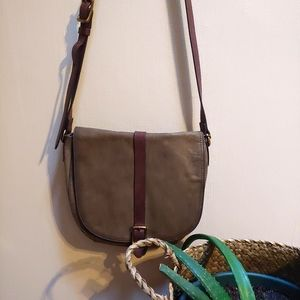 Fossil Leather Crossbody in Green